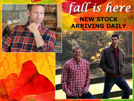 It's Autumn! Sweaters and flannels and coats, oh my! Click here to visit us on Facebook.