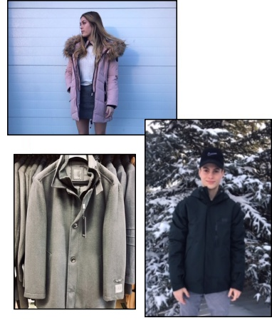 Top: Outback's Oilskin is waterproof with a cotton lining. Bottom left: This season, Helly Hansen has drawn inspiration from their heritage to bring you a supreme collection that combines highly technical fabrics with progressive Scandinavian design. Bottom Right: Our Cripple Creek collection includes leatherwear, outerwear, and ranchwear.